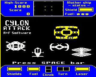 Cylon Attack Screen Shot