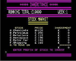 Inheritance Screen Shot
